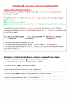 grammaire GROUPE 3 S8