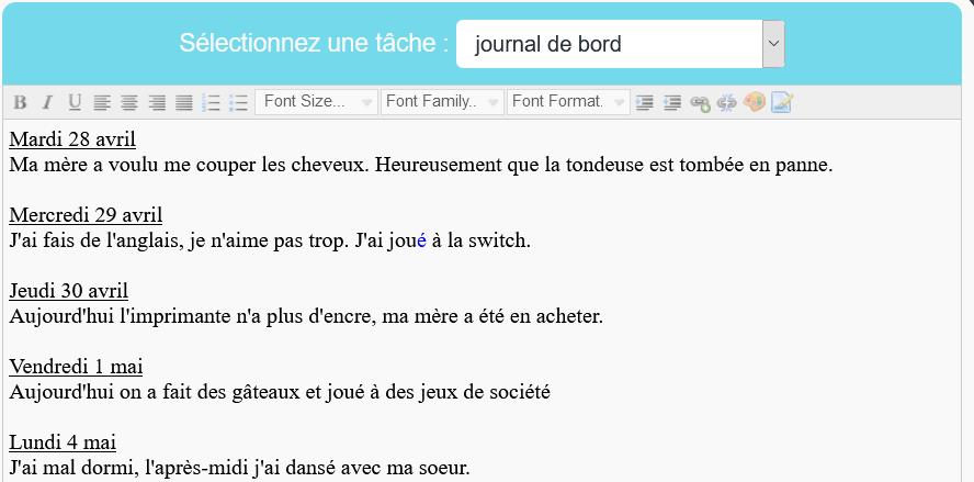 journal bord Michael